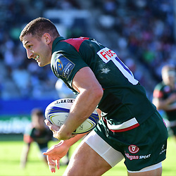 Jonny May of Leicester during the European Rugby Champions Cup match between Racing 92 and Leicester Tigers on October 14, 2017 in Colombes, France. (Photo by Dave Winter/Icon Sport)