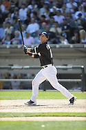 CHICAGO - JUNE 19:  A.J. Pierzynski #12 of the Chicago White Sox bats during the game against the Pittsburgh Pirates at U.S. Cellular Field in Chicago, Illinois on June 19, 2008.  The White Sox defeated the Pirates 13-8.  (Photo by Ron Vesely)