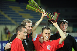Grabus, Konjevic, Salkic and Salja after Slovenian Supercup between NK Domzale and NK Interblock, on July 9, 2008, in Domzale. Interblock won the mach and Supercup by 7 : 6 after penalty shots. (Photo by Vid Ponikvar / Sportal Images)