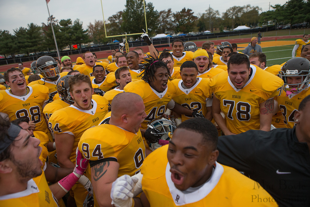 Rowan University Football vs Wesley College at Richard Wacker Stadium in Glassboro, NJ on Saturday October 19, 2013. (photo / Mat Boyle)