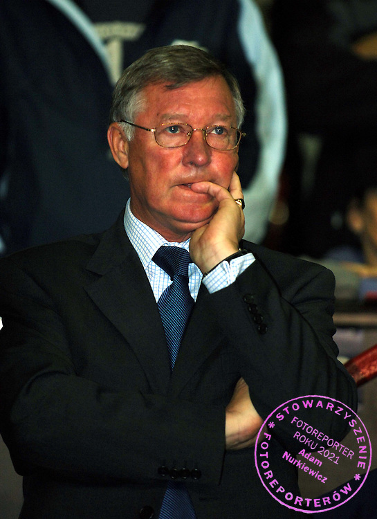 ALEX FERGUSON MANAGER.MANCHESTER UNITED 2005/06.MANCHESTER UNITED V SL BENFICA 27/09/05.THE UEFA CHAMPIONS LEAGUE GROUP D.PHOTO ROBIN PARKER FOTOSPORTS INTERNATIONAL