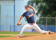 Yardley Western pitcher Andrew Alvino throws a pitch against Falls in the first inning at Neshaminy High School Sunday July 5, 2015 in Langhorne, Pennsylvania. (Photo by William Thomas Cain)