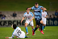 SYDNEY, AUSTRALIA - MAY 21: Kawasaki Frontale player Michael Fitzgerald (29) gets the ball from Sydney FC player Mitchell Austin (21) at AFC Champions League Soccer between Sydney FC and Kawasaki Frontale on May 21, 2019 at Netstrata Jubilee Stadium, NSW. (Photo by Speed Media/Icon Sportswire)