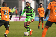 Forest Green Rovers Callum Evans(18) runs forward during the EFL Sky Bet League 2 match between Barnet and Forest Green Rovers at The Hive Stadium, London, England on 7 April 2018. Picture by Shane Healey.