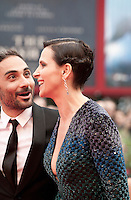 Director Piero Messina and  actress Juliette Binoche at the gala screening for the film L'attesa at the 72nd Venice Film Festival, Saturday September 5th 2015, Venice Lido, Italy.