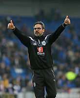 Football - 2017 / 2018 Premier League - Brighton and Hove Albion vs. Huddersfield Town<br /> <br />  Huddersfield Town Head Coach David Wagner gives the thumbs up to the traveling support at The Amex Stadium Brighton <br /> <br /> COLORSPORT/SHAUN BOGGUST