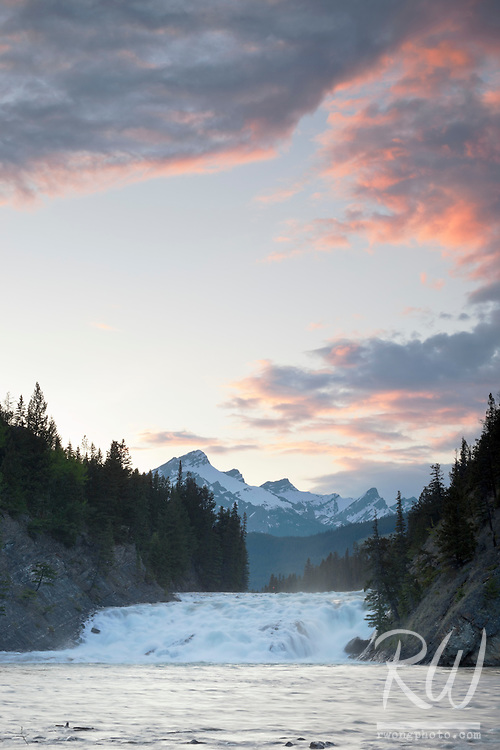 Bow Falls at Sunset, Banff National Park, Alberta, Canada