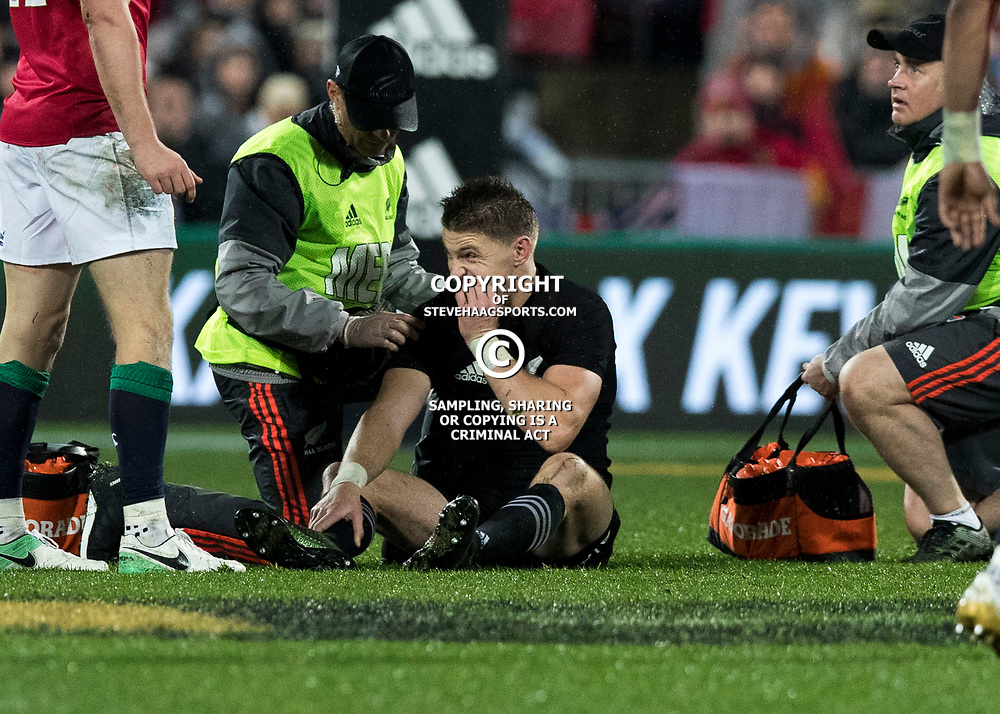Beauden Barrett  during game 9 of the British and Irish Lions 2017 Tour of New Zealand, the second Test match between  The All Blacks and British and Irish Lions, Westpac Stadium, Wellington, Saturday 1st July 2017<br /> (Photo by Kevin Booth Steve Haag Sports)<br /> <br /> Images for social media must have consent from Steve Haag
