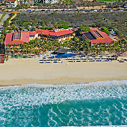 Posada Real hotel from the air.<br /> San José del Cabo, BCS. México.