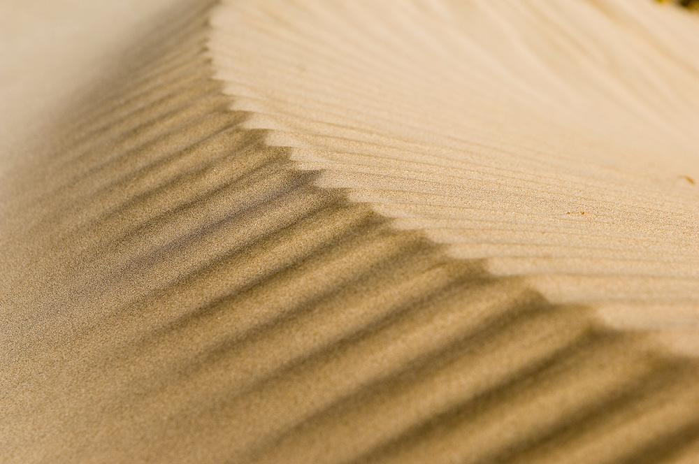 Sand dunes on the beach at Famara, Lanzarote, Spain