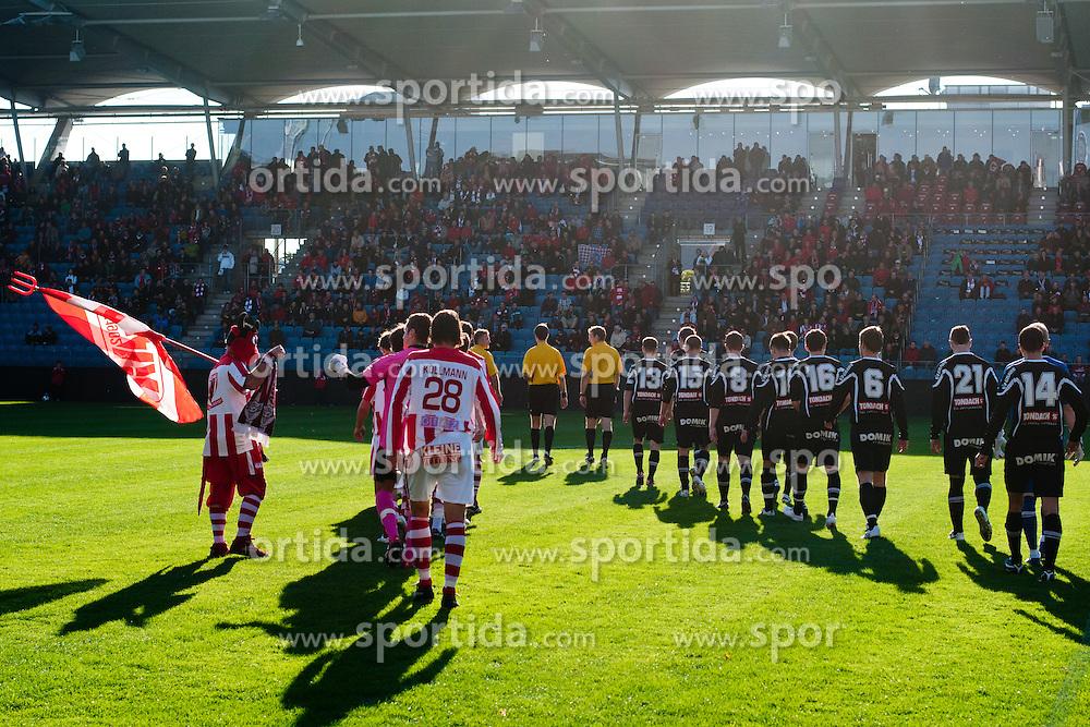 Teams before football match between Grazer AK - SV Tondach Gleinstätten in Regionalliga, on October 15, 2011 at UPC Arena, Graz, Austria. (Photo By Matic Klansek Velej / Sportida)