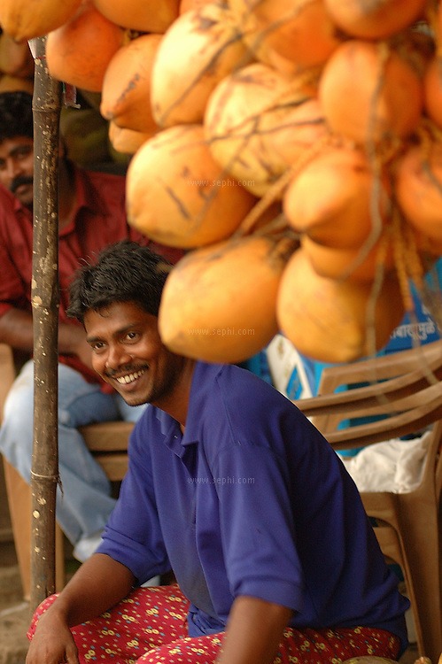 A coconut stall, Mumbai. March 2006