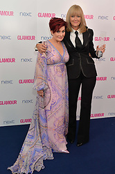 Left to right, SHARON OSBOURNE and JANE MOORE at the Glamour Women of The Year Awards in Association with Next held in Berkeley Square Gardens, Berkeley Square, London on 3rd June 2014.