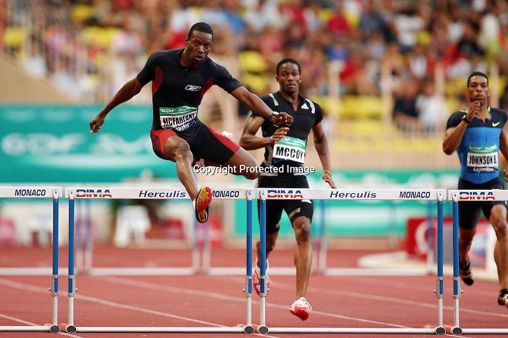 Danny Mc Farlane (jam) - 400m 400 m Haies - Meeting de Herculis Monaco - 29.07.2008 - Athle Athletisme - Homme Hommes Messieurs Masculin - largeur action macfarlane mcfarlane mac