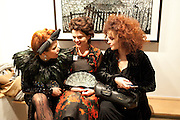 PALOMA FAITH; LULU GUINNESS; HELENA BONHAM-CARTER; ; , Lulu Guinness And Rob Ryan Fan Bag - Launch Party. Air Gallery. London. 10 November 2010.  -DO NOT ARCHIVE-© Copyright Photograph by Dafydd Jones. 248 Clapham Rd. London SW9 0PZ. Tel 0207 820 0771. www.dafjones.com.