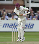Photo Peter Spurrier.31/08/2002.Cheltenham & Gloucester Trophy Final - Lords.Somerset C.C vs YorkshireC.C..Somerset -Jamie Cox (Marron Helmet)