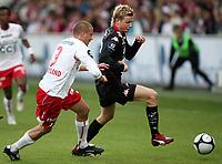 Fotball , 21. mai 2009 , Tippeligaen ,  Fredrikstad - Brann 2-4<br /> <br /> Patrik Gerrbrand  ,FFK  og Erik Huseklepp , Brann