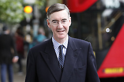 © Licensed to London News Pictures. 19/06/2019. London, UK. Conservative MP Jacob Rees-Mogg walks to Parliament. Boris Johnson has cemented his position as favourite to become the next Prime Minster after winning a clear majority in the second round of the conservative party's leadership race. Photo credit: Peter Macdiarmid/LNP