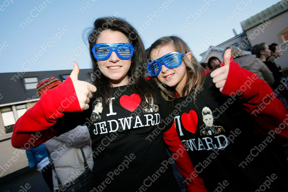 11/02/12<br /> Chloe Frost and Abbey Murphy pictured at the Jedward Concert which took place at the west County Hotel, Ennis, Limerick on Saturday evening.<br /> Picture: Don Moloney / Press 22