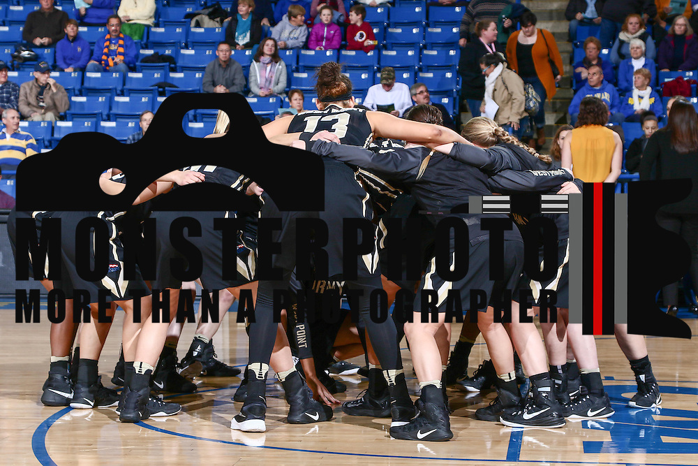 Army West Point celebrates prior to a regular-season non conference game Sunday, Dec. 11, 2016, at the Bob Carpenter Center in Newark Delaware.