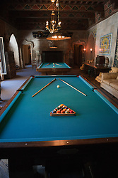 Billard tables in the billard room, Casa grande, Hearst Castle, California, United States of America