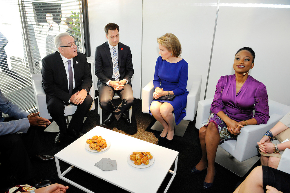 20150604- Brussels - Belgium - 04 June2015 - European Development Days - EDD  - Queen Mathilde of Belgium, Neven Mimica Defco and Alexander De Croo Belgian Minister  © EU/UE