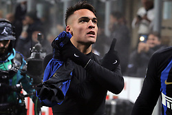 December 26, 2018 - Milan, Milan, Italy - Lautaro Martinez #10 of FC Internazionale Milano celebrates after scoring the his goal during the serie A match between FC Internazionale and SSC Napoli at Stadio Giuseppe Meazza on December 26, 2018 in Milan, Italy. (Credit Image: © Giuseppe Cottini/NurPhoto via ZUMA Press)