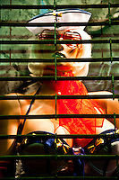 New York, New York City. Mannequin in sex shop window.