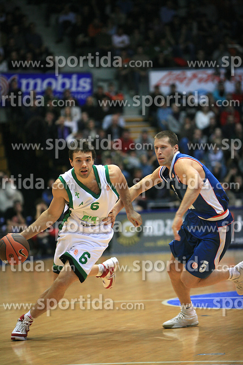 Antonio Porta (6) and Davod Kus (5) at Euroleague match between KK Cibona and Air Avellino, on November 26, 2008, in Cibona Tower, Zagreb, Croatia. Match was won by Cibona 82:79. (Photo by Vid Ponikvar / Sportida)