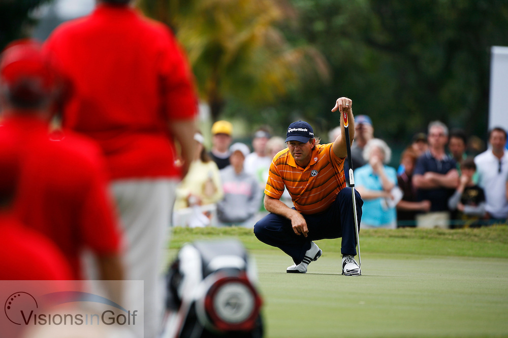 Retief Goosen at the CA WGC Championship 2010, Doral Bule Monster course, Miami, USA.  March 2010.<br /> Picture Credit: Mark Newcombe / visionsingolf.com