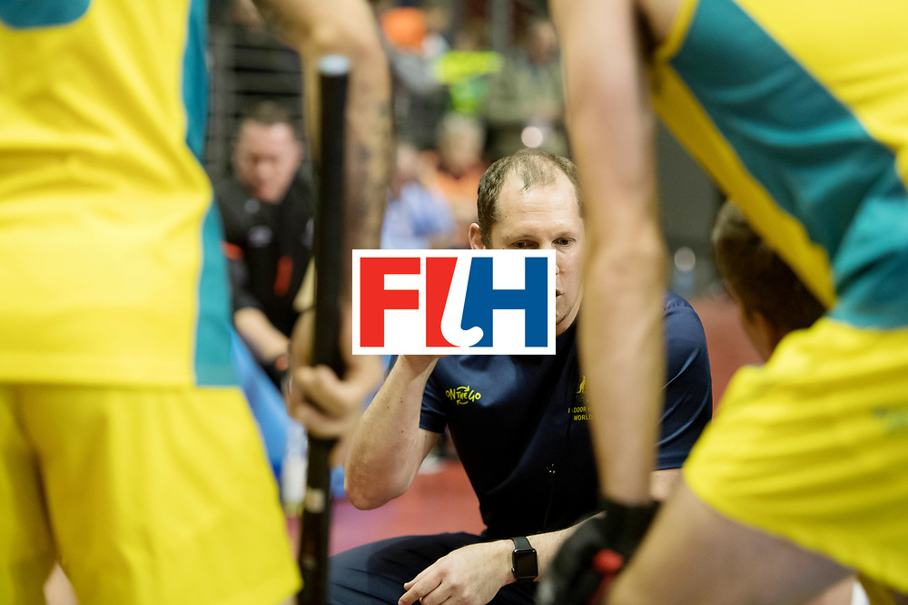BERLIN - Indoor Hockey World Cup<br /> Quarterfinal 4: Australia - Belgium<br /> foto: Steve Miller.<br /> WORLDSPORTPICS COPYRIGHT FRANK UIJLENBROEK