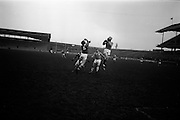 16/02/1964<br /> 02/16/1964<br /> 16 February 1964<br /> Railway Cup Football Semi Final: Munster v Ulster at Croke Park, Dublin. Munster's S. O'Mahoney (5), switched to the forward line, misjudges this ball falling into the hands of an Ulster back.