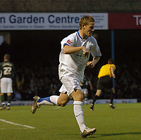 Photo: Ashley Pickering.<br />Southend United v Plymouth Argyle. Coca Cola Championship. 18/11/2006.<br />Mark Gower celebrates scoring the equaliser for Southend