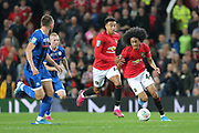 Manchester United's Tahith Chong on the ball during the EFL Cup match between Manchester United and Rochdale at Old Trafford, Manchester, England on 25 September 2019.