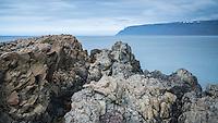 Kögur cliffs in Dýrafjörður, viewing northwest. West fiords of Iceland.