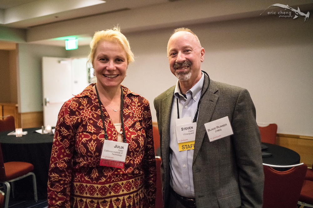 Julia Greer and Steven Cherry. TTI/Vanguard [next] 2015 conference at the Grand Hyatt in San Francisco