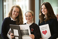 Each year over 6,000 primary school children in County Galway write and submit books in English and Irish. The winning entries are recognised in a major Awards&rsquo; Ceremony attended by an average of 1,500 attendees each year held in the Galmont Hotel.<br /> One of this years young authors was EAbha Ni NEAchatain, Elaine NicShiomoin and Ruby McGrath from Scoil Einne An Spideal<br />    Photo:Andrew Downes, XPOSURE .