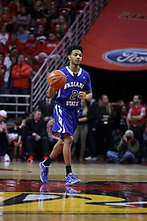 20 January 2017:  Jordan Barnes during an NCAA Missouri Valley Conference mens basketball game Where the Purple Aces of Evansville lost to the Illinois State Redbirds 75-73 in Redbird Arena, Normal IL