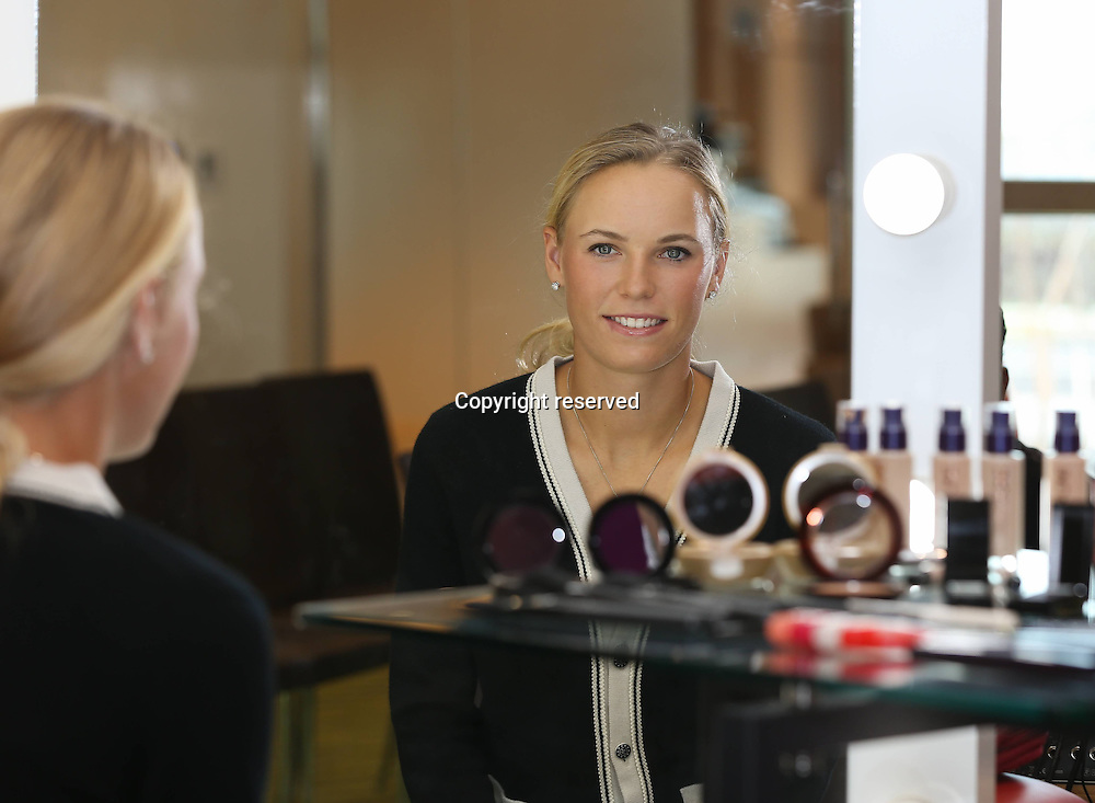 17.02.2014. Dubai, United Arab Emirates. Dubai Tennis Championships 2014 WTA Tennis Tournament International Series Caroline Wozniacki at a Sponsors  event