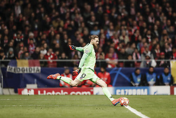 February 20, 2019 - Madrid, Spain - Jan Oblak (Atletico de Madrid)  in action during the match   UCL Champions League match between Atletico de Madrid vs Juventus at the Wanda Metropolitano stadium in Madrid, Spain, February 20, 2019  (Credit Image: © Enrique De La Fuente/NurPhoto via ZUMA Press)