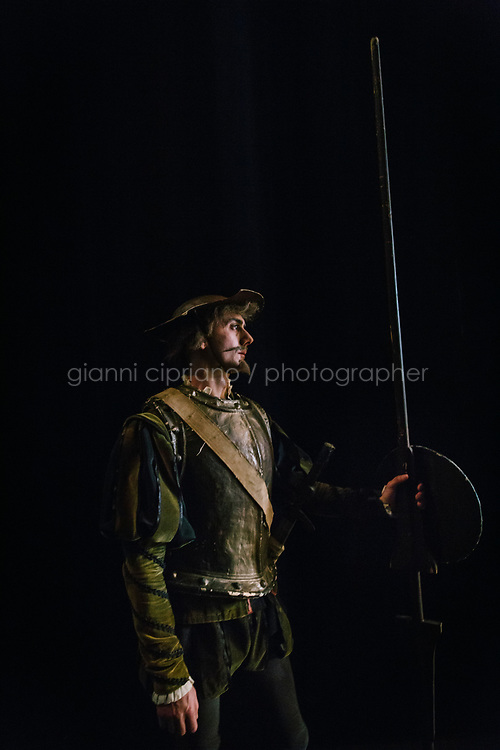 PALERMO, ITALY - 18 FEBRUARY 2018: Benedetto Oliva, who interprets the role of Don Quixote in &quot;Don Quixote&quot;, is seen here backstage during the dress rehearsal at the Teatro Massimo in Palermo, Italy, on February 18th 2018.<br /> <br /> The Teatro Massimo Vittorio Emanuele is an opera house and opera company located  in Palermo, Sicily. It was dedicated to King Victor Emanuel II. It is the biggest in Italy, and one of the largest of Europe (the third after the Op&eacute;ra National de Paris and the K. K. Hof-Opernhaus in Vienna), renowned for its perfect acoustics. It was inaugurated in 1897.