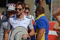 Jenson Button (GBR) McLaren on the drivers parade.<br /> United States Grand Prix, Sunday 2nd November 2014. Circuit of the Americas, Austin, Texas, USA.