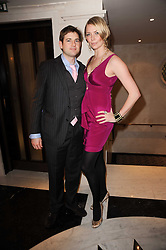 JODIE KIDD and THOMAS GEORGE at a dinner hosted by jewellers Damiani at The Connaught Hotel, London on 3rd February 2010.