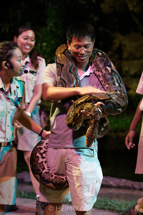 Night Safari Singapore. Creatures of the Night show with nightly animals.