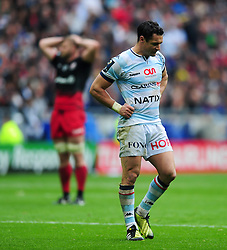 Dan Carter of Racing 92 looks dejected - Mandatory byline: Patrick Khachfe/JMP - 07966 386802 - 14/05/2016 - RUGBY UNION - Grand Stade de Lyon - Lyon, France - Saracens v Racing 92 - European Rugby Champions Cup Final.