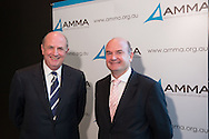 Peter Reith (Minister for Workplace Relations .(1996 -2000)) And Steve Knott (Chief Executive, AMMA). 2013 Australian Mines And Minerals Association Conference. Crown Conference Center, Melbourne, Victoria, Australia. 16/05/2013. Photo By Lucas Wroe