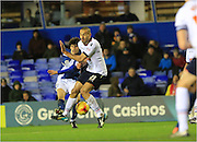 Diego Fabbrini shoots during the Sky Bet Championship match between Birmingham City and Bolton Wanderers at St Andrews, Birmingham, England on 23 February 2016. Photo by Daniel Youngs.