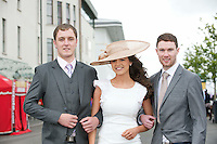 Paul and Senan O' Sullivan Rachel Nolan at  the Anthony Ryan's Best Dressed ladies day at the Galway . Photo:Andrew Downes.Photo issued with Compliments, No reproduction fee on first use