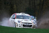 #167 Ian Copping / Dave Rowley Ford Focus Bolton-le-Moors Offspring International Ltd. during Neil Howard Memorial Stage Rally, and opening round of the 2015 Motorsport News Rally Championship.  at Oulton Park, Little Budworth, Cheshire, United Kingdom. November 07 2015. World Copyright Peter Taylor. Copy of publication required for printed pictures.  Every used picture is fee-liable. http://archive.petertaylor-photographic.co.uk