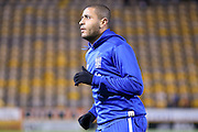Bury forward Leon Clarke  during the The FA Cup match between Bradford City and Bury at the Coral Windows Stadium, Bradford, England on 19 January 2016. Photo by Simon Davies.